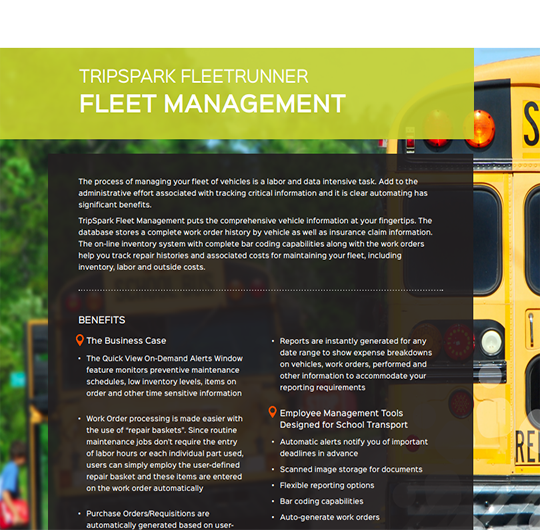 Asset Management for School Transportation