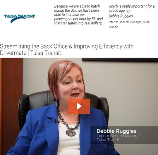 Debbie Ruggles - Tulsa Transit - Drivermate Testimonial