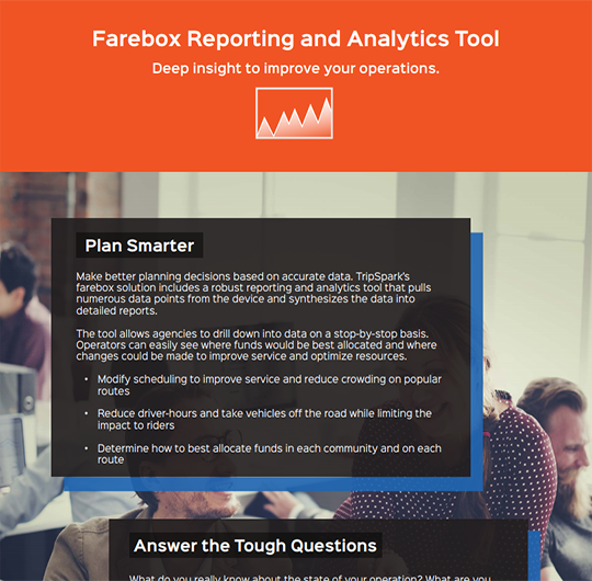 Farebox Reporting and Analytics Tool