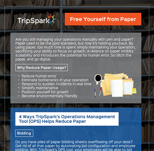 Free Yourself from Paper with the Operations Management Tool