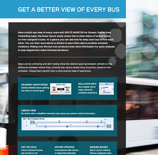 Route Monitor | Get A Better View of Every Bus