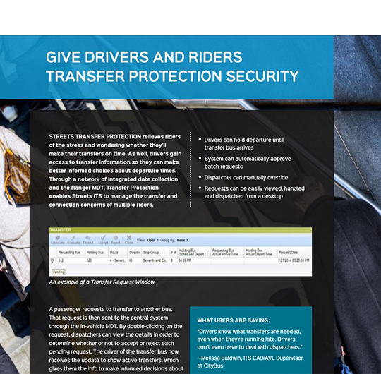 Give Drivers and Riders Transfer Protection Security