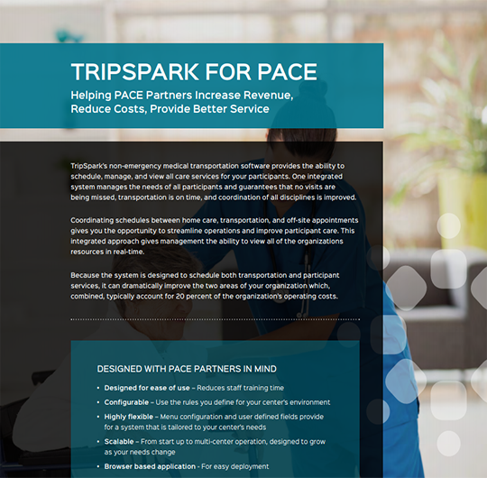 Helping PACE Partners Increase Revenue, Reduce Costs, Provide Better Service
