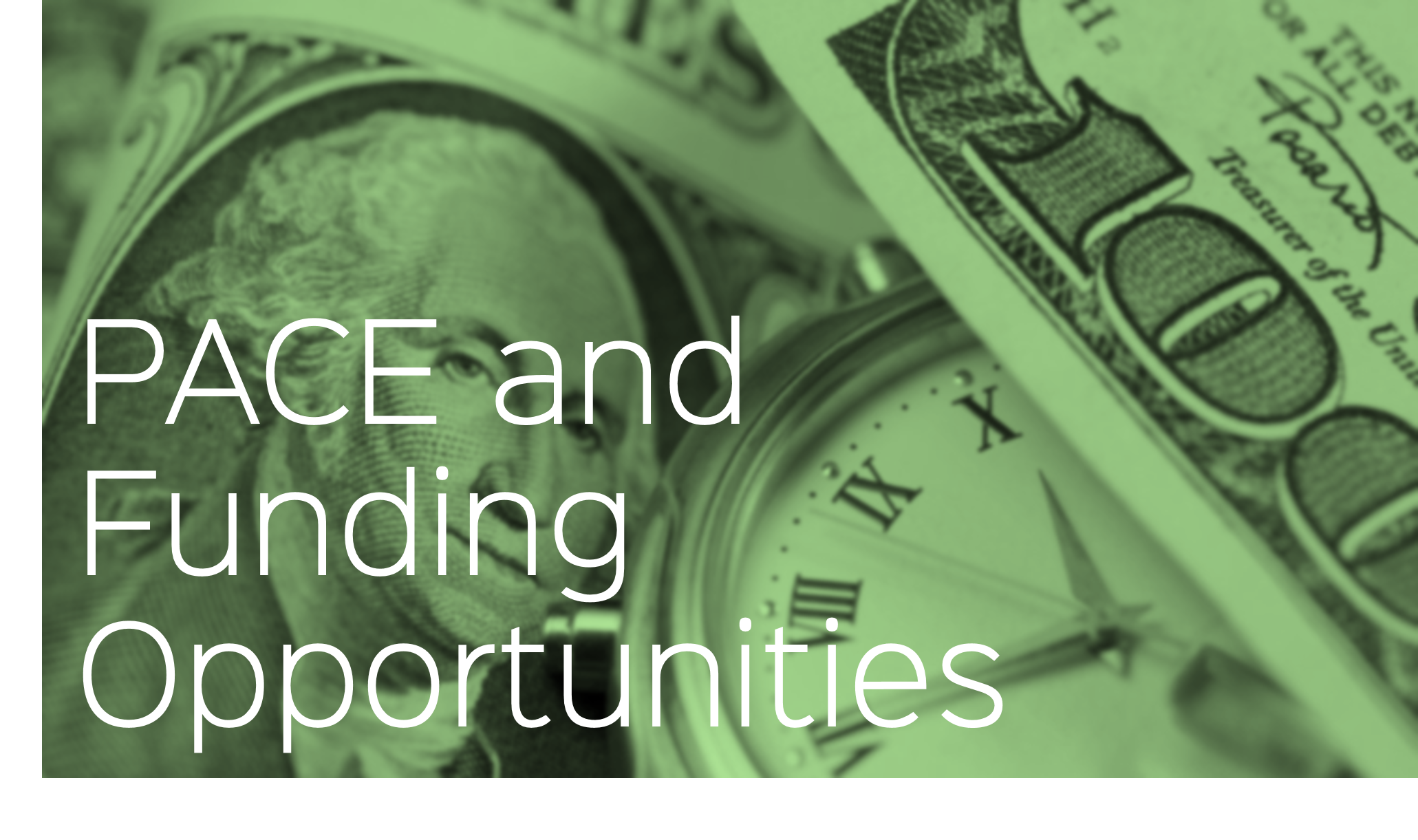 Funding Opportunities for PACE
