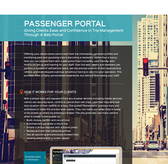 Passenger Portal for NEMT