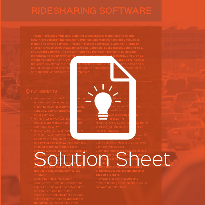 Ridesharing: For Tomorrow's Commuters, Today.