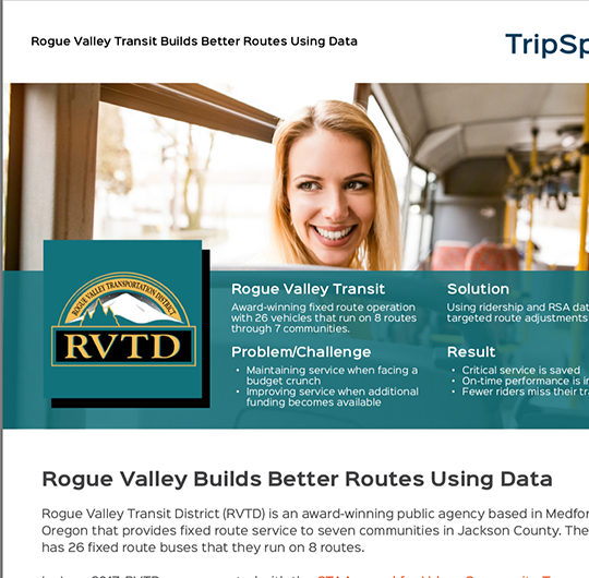 Rogue Valley Transit Case Study