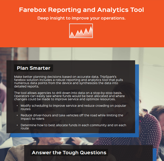Farebox Reporting and Analytics Tool - Ridership Analytics