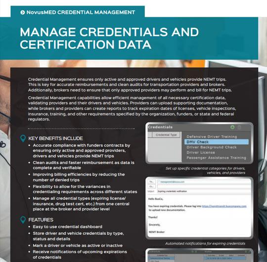 Credential Management Solution Sheet