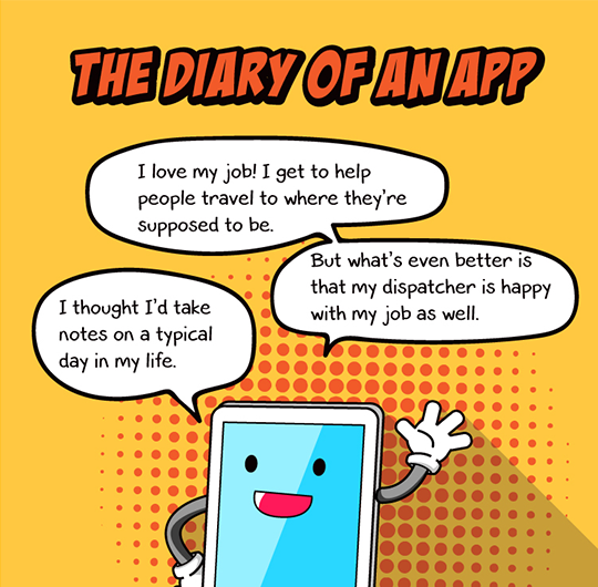 The Diary of an In-Vehicle Transit App (DriverMate)