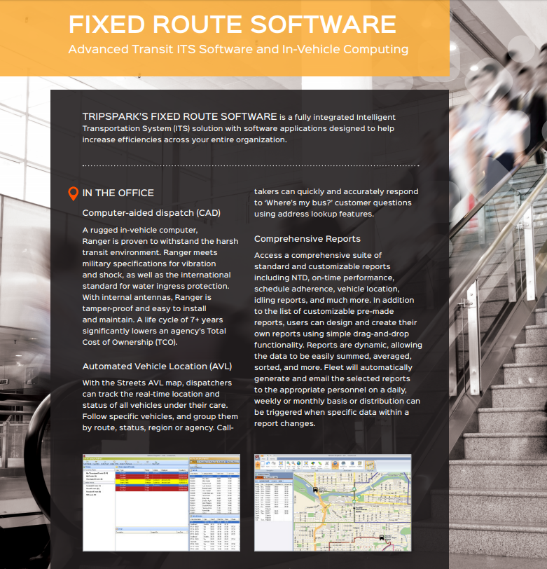 Fixed Route ITS Software