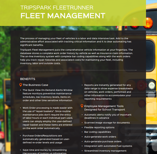 Fleet Management for School Transportation