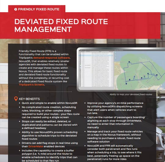Friendly (Deviated) Fixed Route Solution Sheet