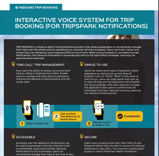 Inbound Trip Booking for Notifications - NEMT