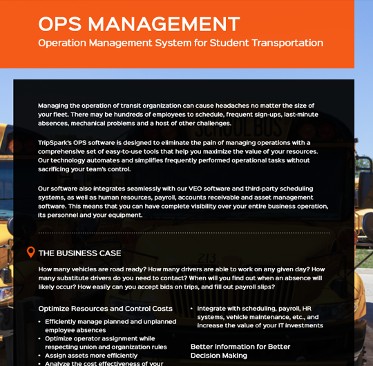Operation Management for Student Transportation