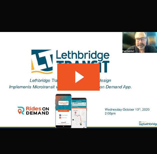 Lethbridge Redesigns Fixed Route & Adds Microtransit Webinar