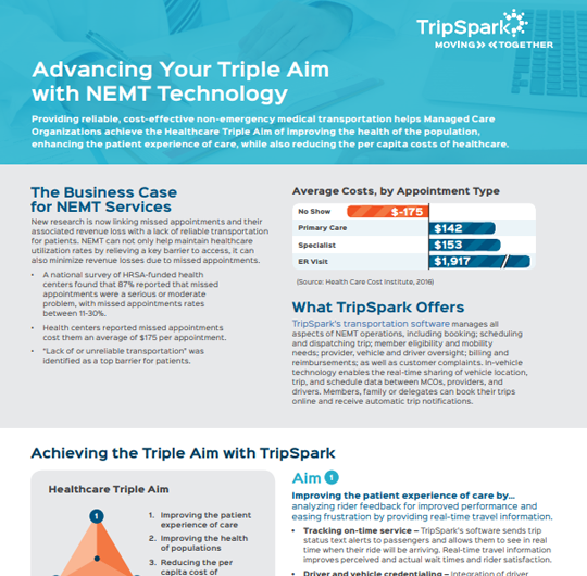 Advancing Your Triple Aim with NEMT Technology (MCO)