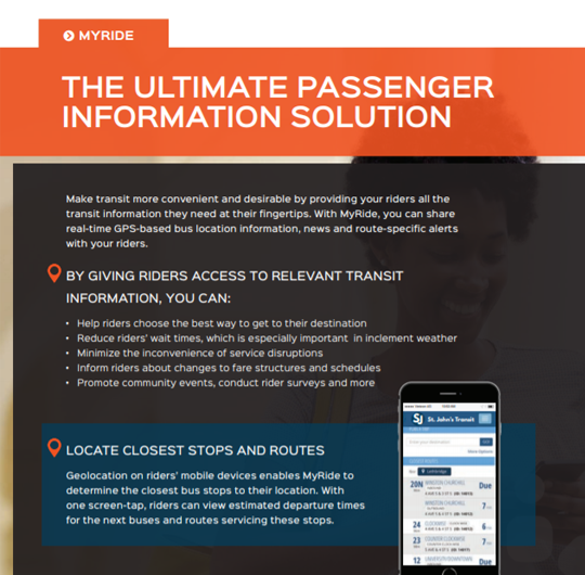MyRide: The Ultimate Passenger Information System and Mobile Solution