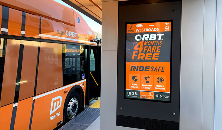 Omaha Metro Launches Bus Rapid Transit Service with Infotainment