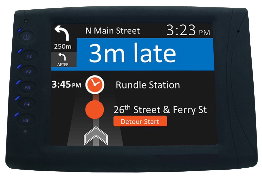 Ranger's blocker screen shows drivers when a detour is about to begin, along with time points for temporary stops