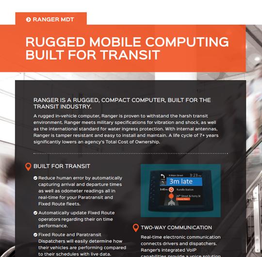 Ranger | Rugged Mobile Computing, Built for Transit