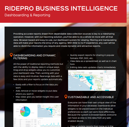 RidePro Business Intelligence | Reporting & Dashboarding