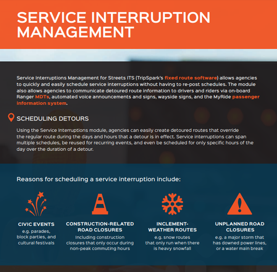 Service Interruptions Management