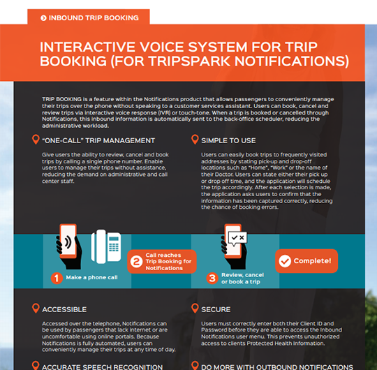 Inbound Trip Booking for Notifications