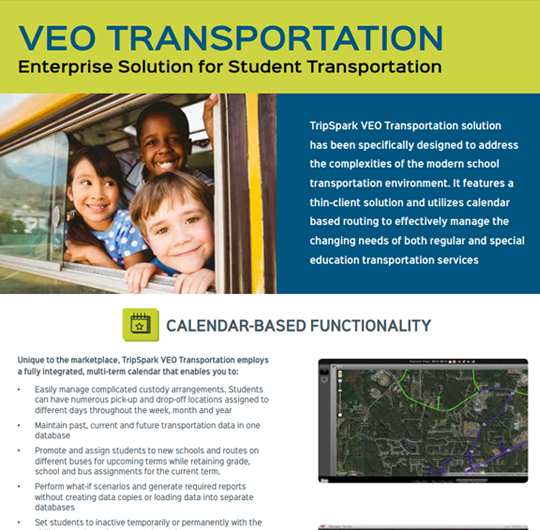 VEO Transportation: Enterprise Solution for Student Transportation