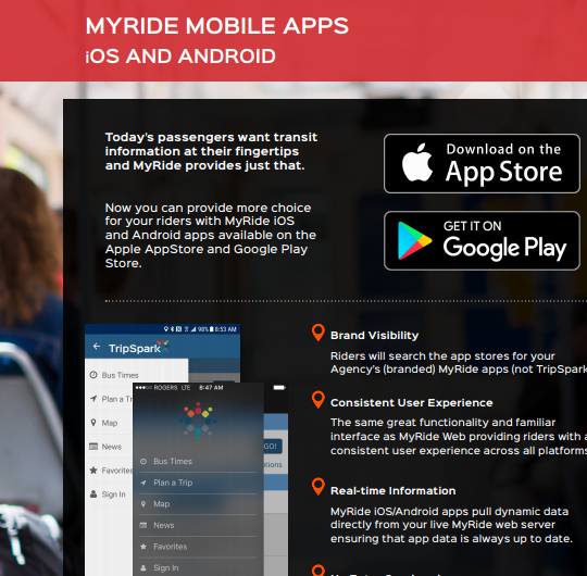 MyRide Mobile Apps Solution Sheet