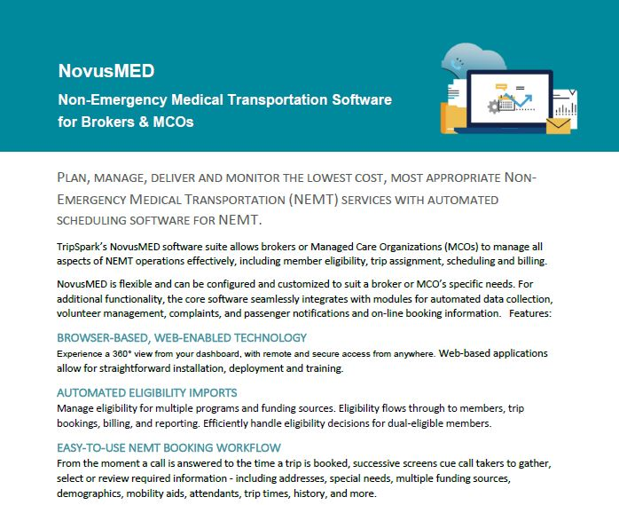 NovusMED Features for Brokers and MCOs